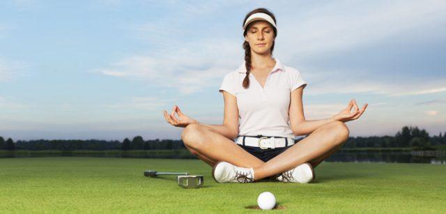 Golf und Yoga